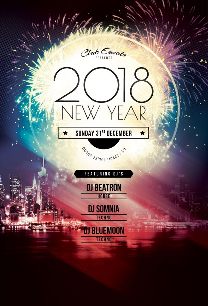 new year flyer templates for photoshop stylewish
