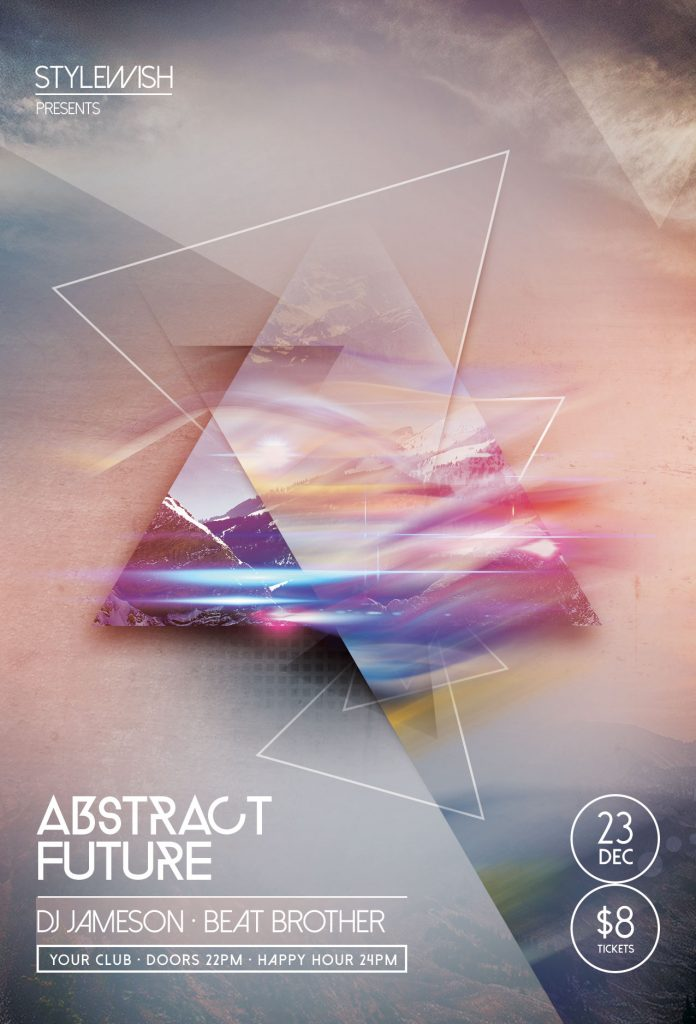 Abstract Future Flyer Template