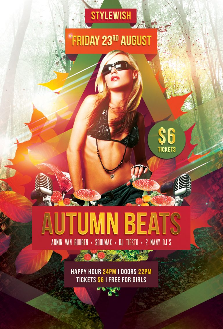 Autumn Beats Flyer Template