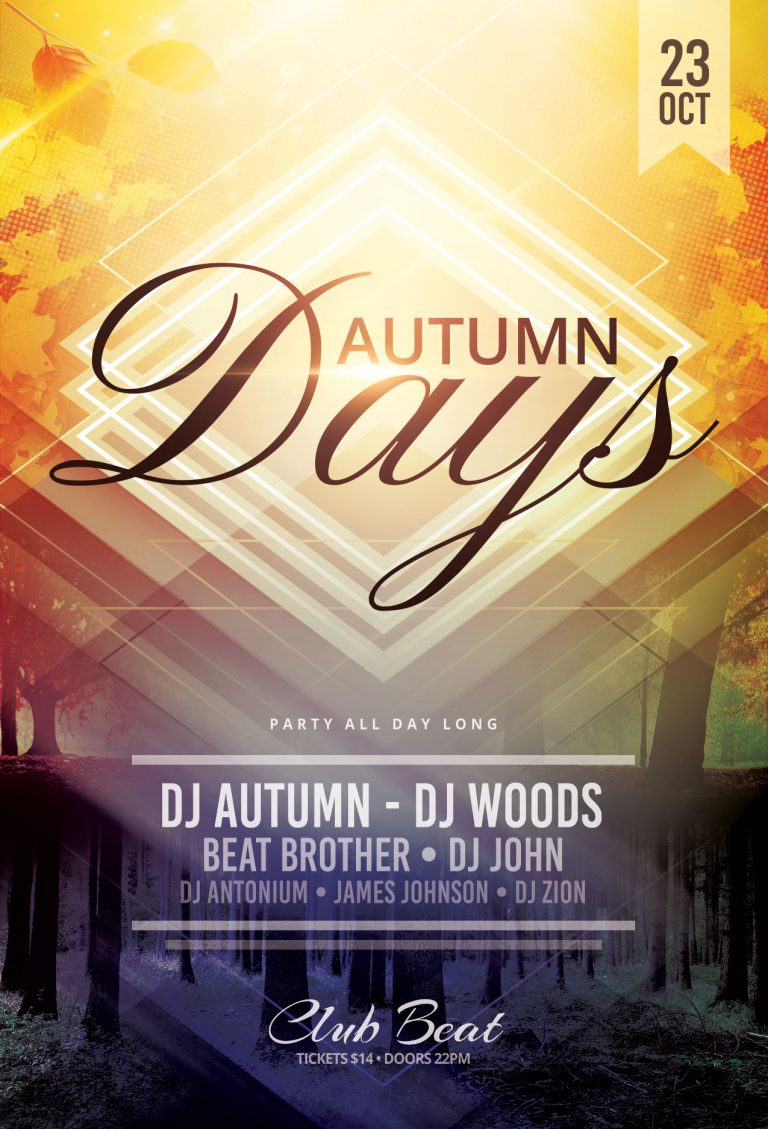 Autumn Days Flyer Template