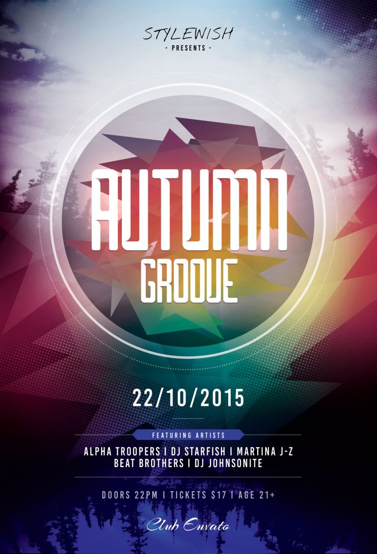 Autumn Groove Flyer Template