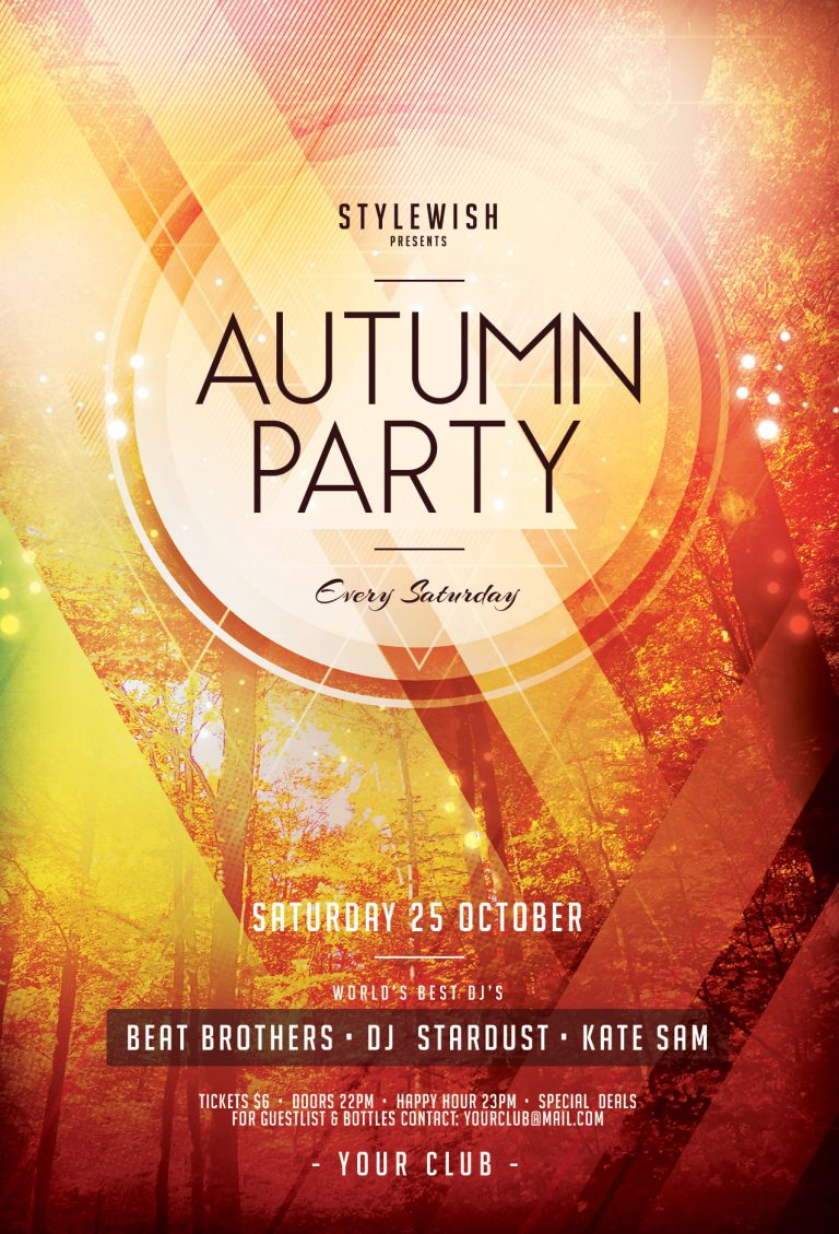 Autumn Party Flyer Template