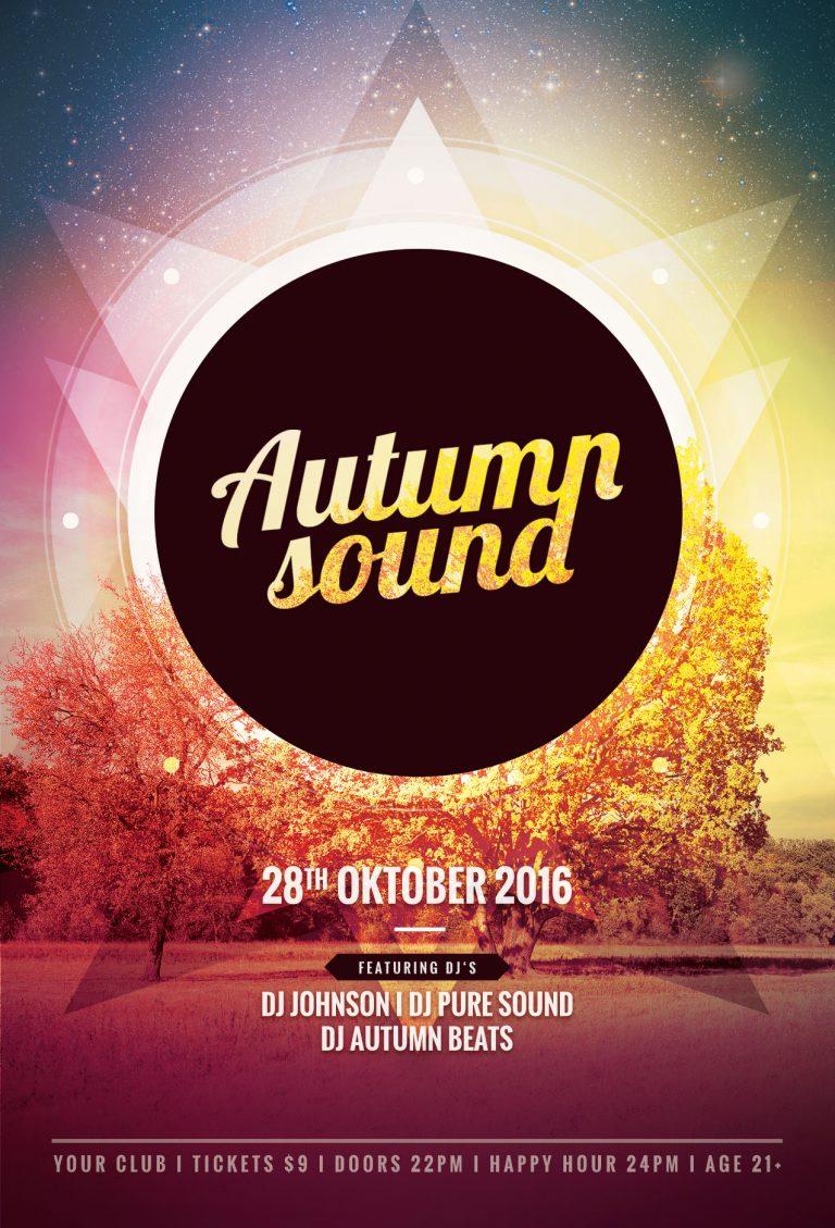 Autumn Sound Flyer Template
