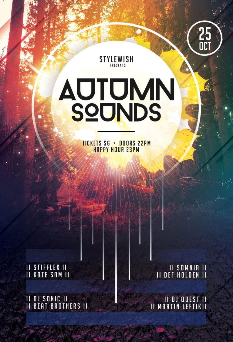 Autumn Sounds Flyer Template