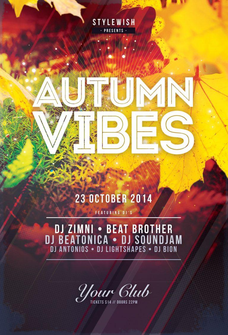 Autumn Vibes Flyer Template