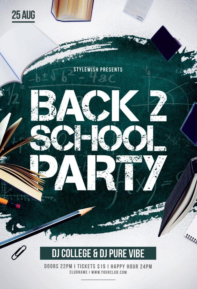 Back 2 School Flyer Template