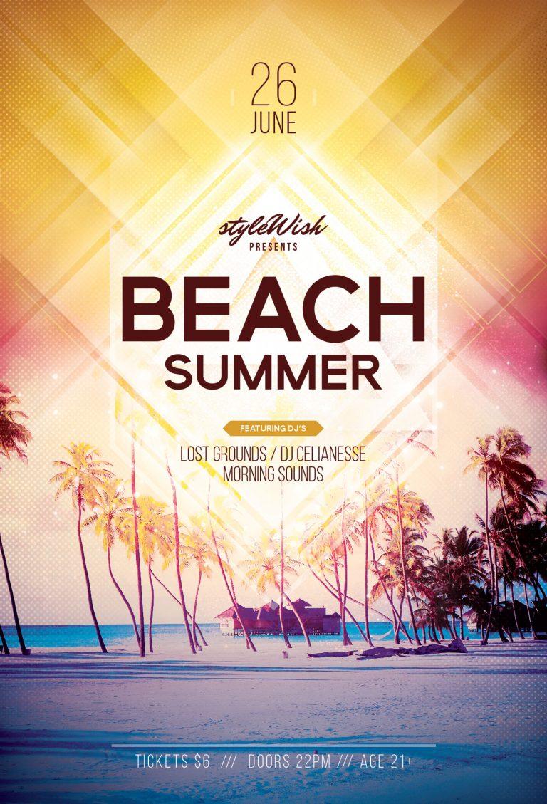 Beach Summer Flyer Template
