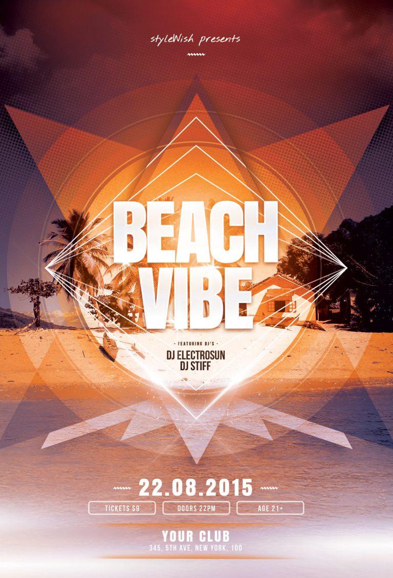 Beach Vibe Flyer Template
