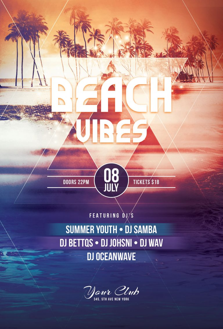 Beach Vibes Flyer Template