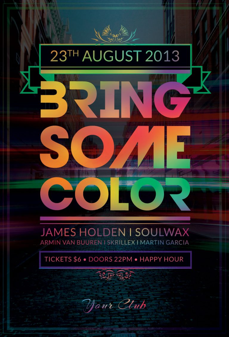 Bring Some Color Flyer Template
