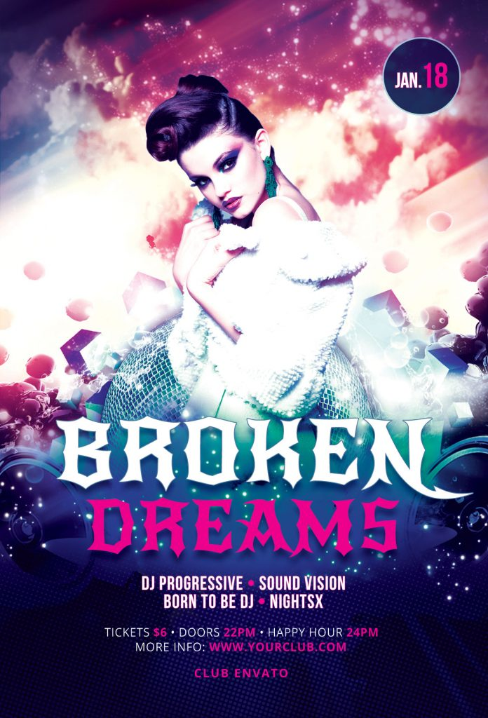 Broken Dreams Flyer Template