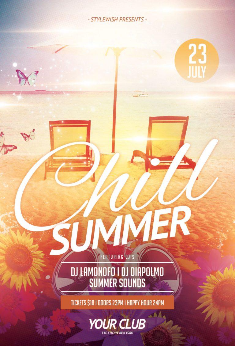 Chill Summer Flyer Template