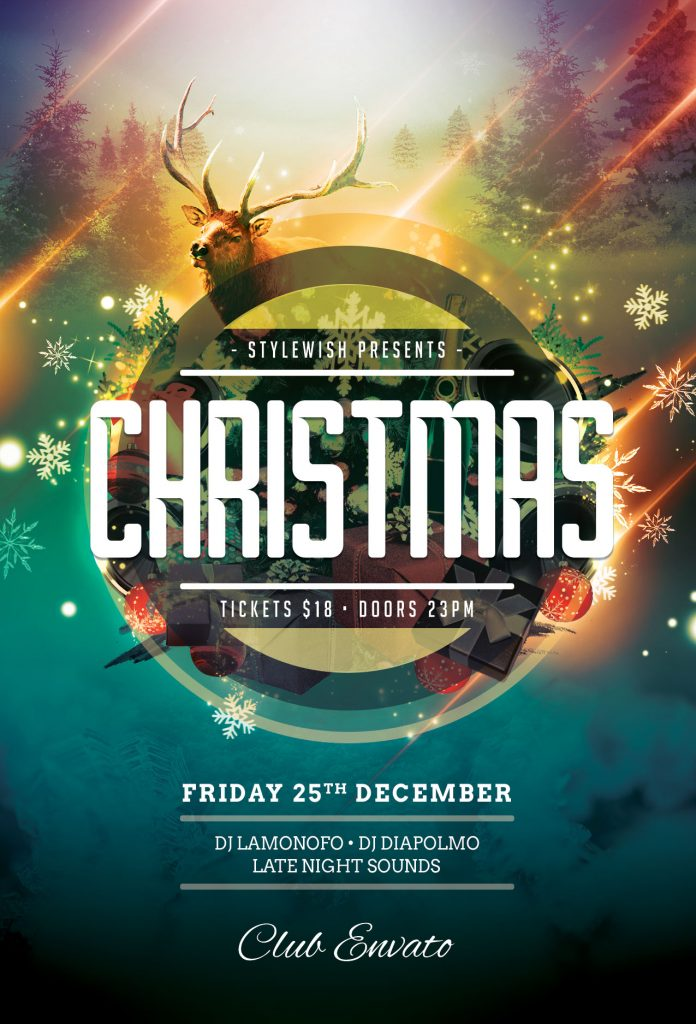 Christmas Flyer.Christmas Flyer Templates To Customize In Photoshop Stylewish