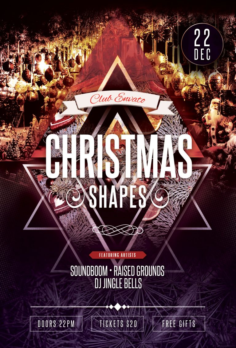 Christmas Shapes Flyer Template