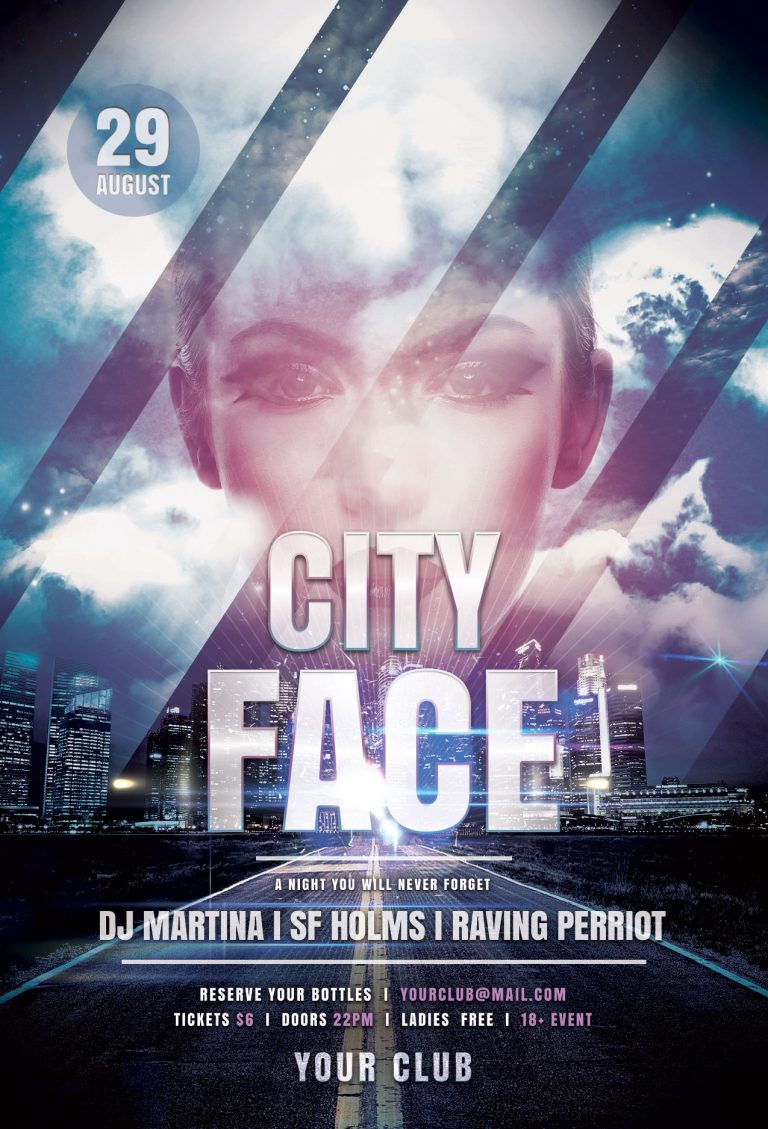 City Face Flyer Template
