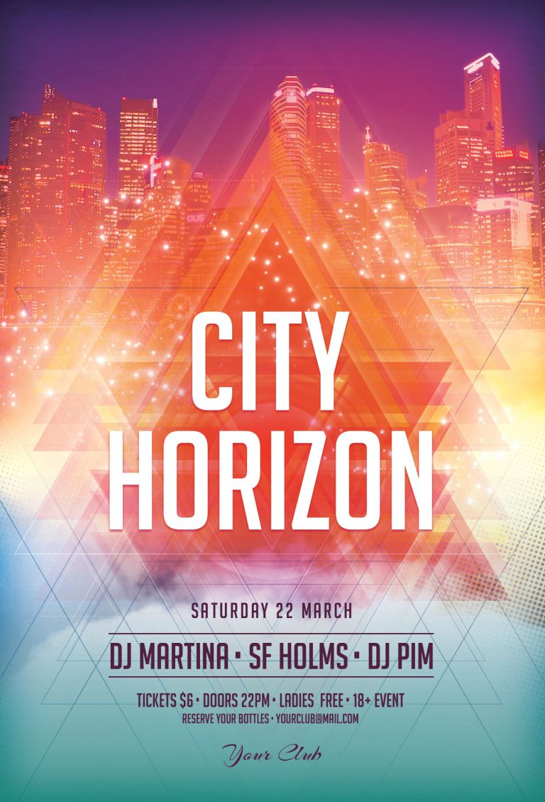 City Horizon Flyer Template