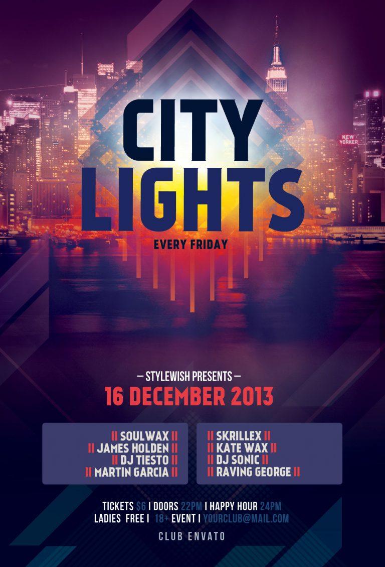 City Lights Flyer Template