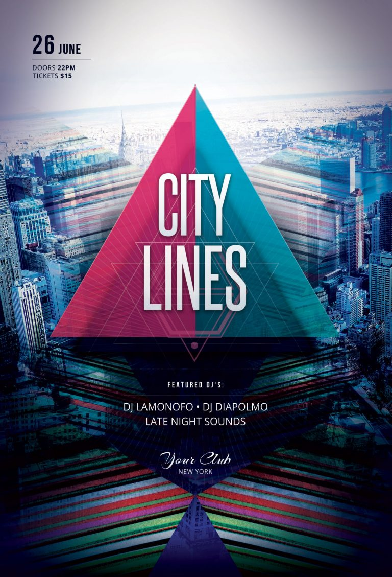 City Lines Flyer Template