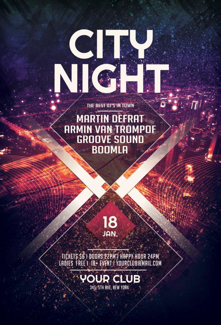 City Night Flyer Template