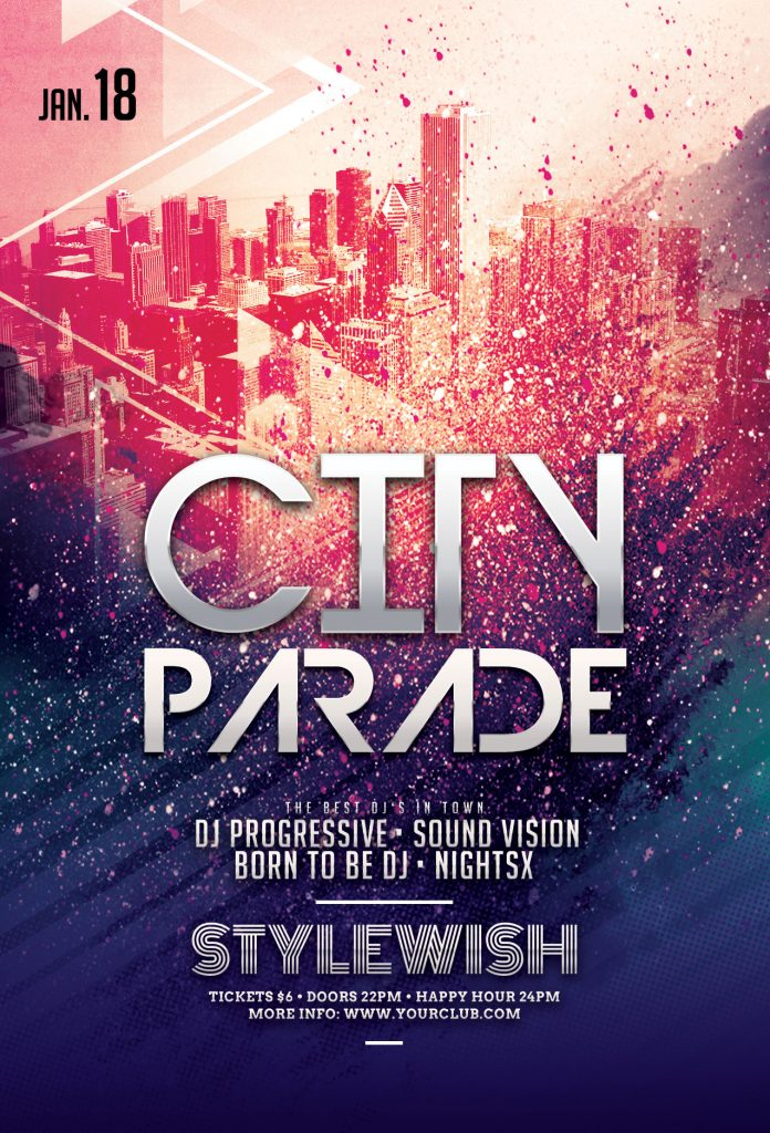 City Parade Flyer Template