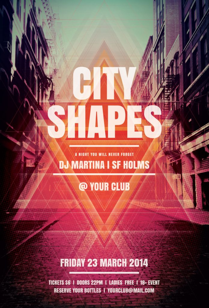 City Shapes Flyer Template