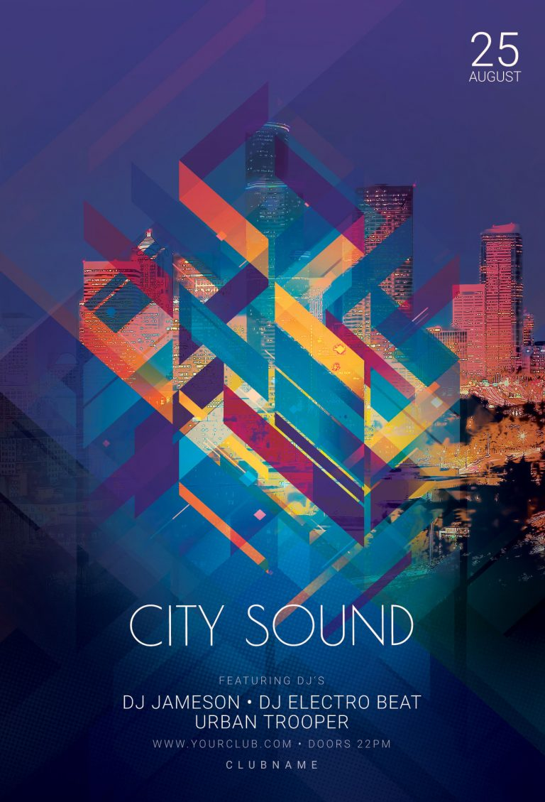 City Sound Flyer Template