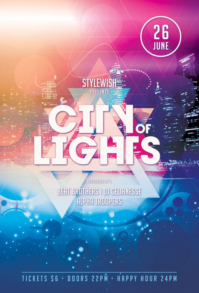City of Lights Flyer Template