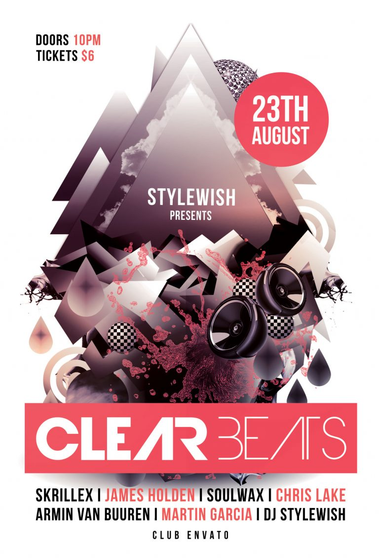 Clear Beats Flyer Template