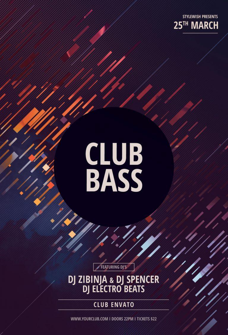 Club Bass Flyer Template