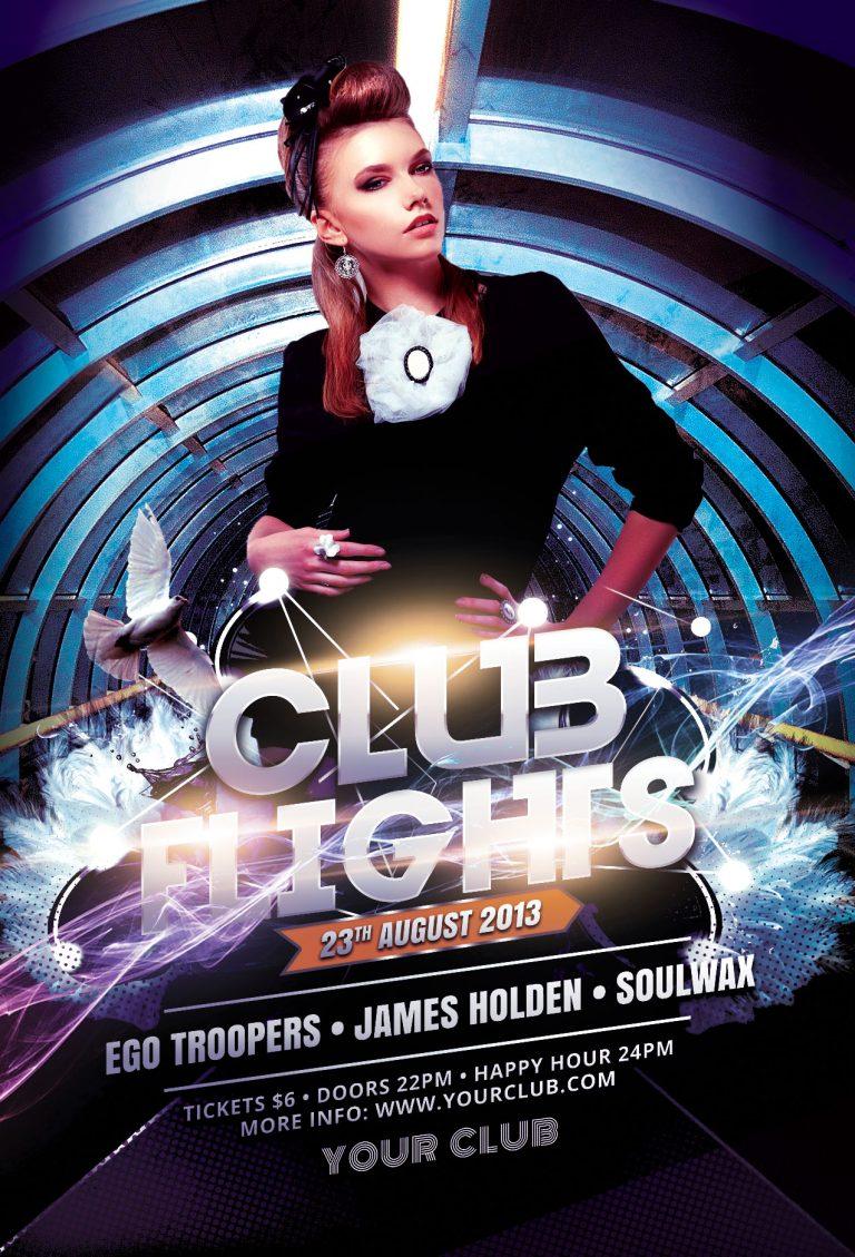 Club Flights Flyer Template