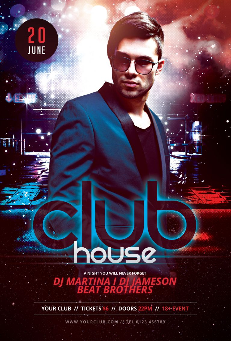 Club House Flyer Template
