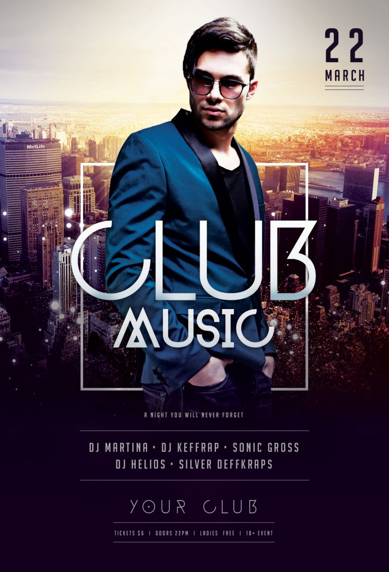 Club Music Flyer Template