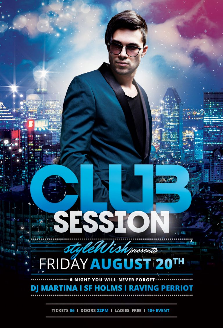 Club Session Flyer Template