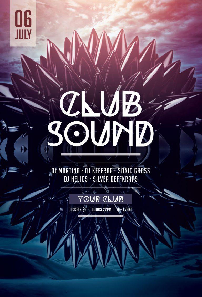 Club Sound Flyer Template