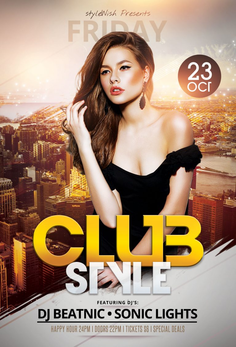 Club Style Flyer Template
