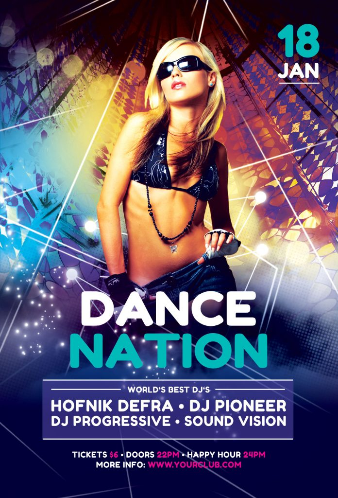 Dance Nation Flyer Template