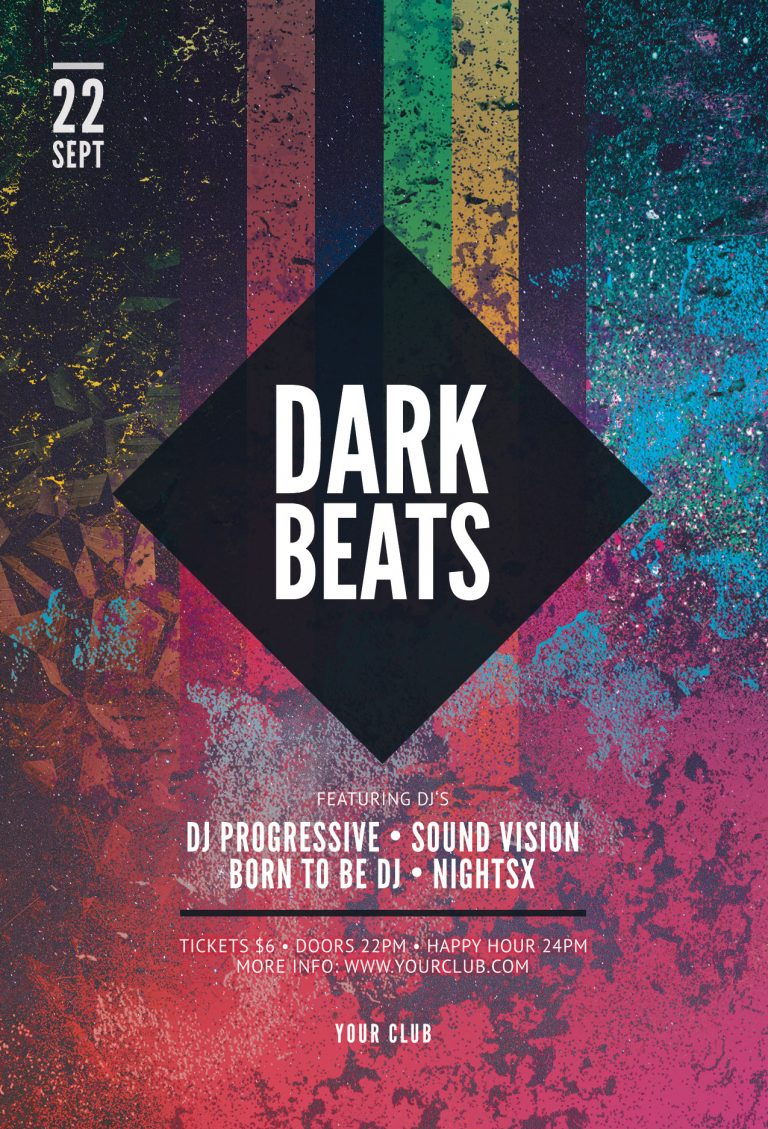 Dark Beats Flyer Template