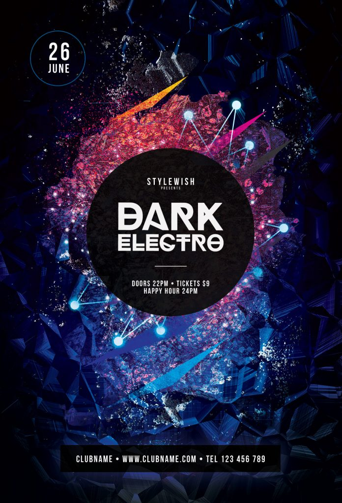 Dark Electro Flyer Template