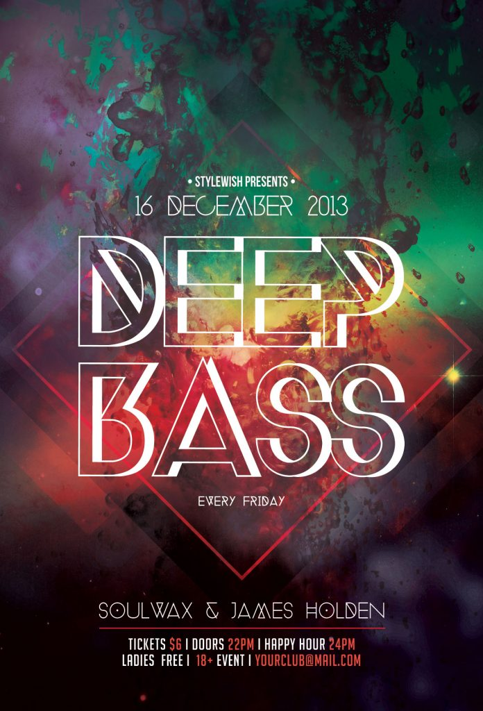 Deep Bass Flyer Template