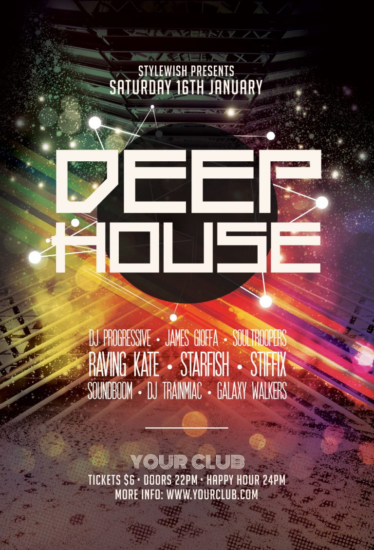 Deep House Flyer Template