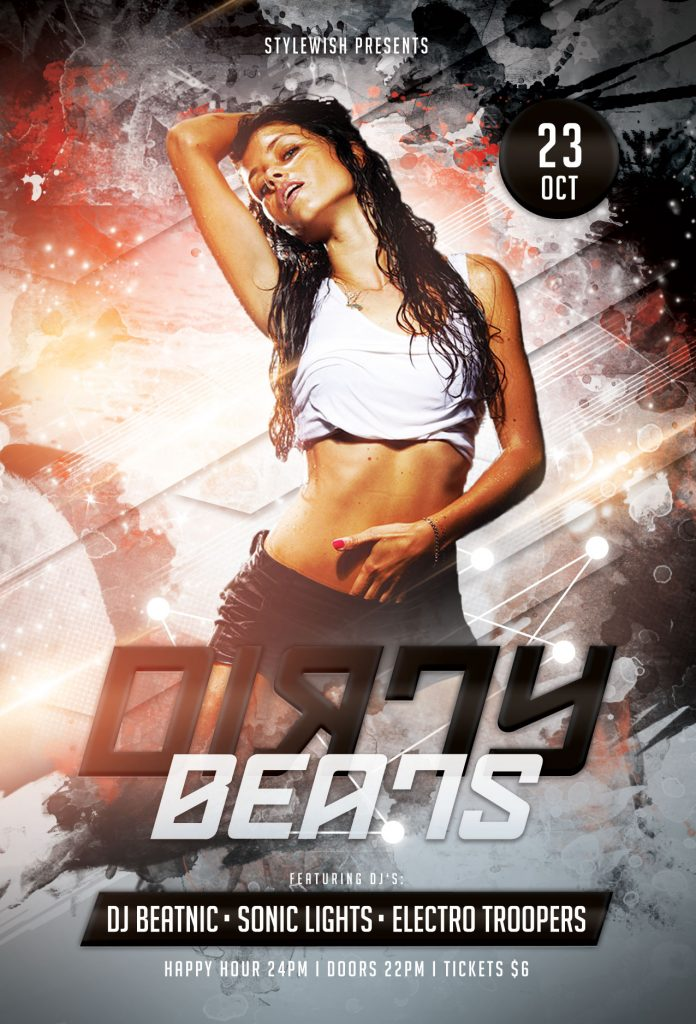 Dirty Beats Flyer Template