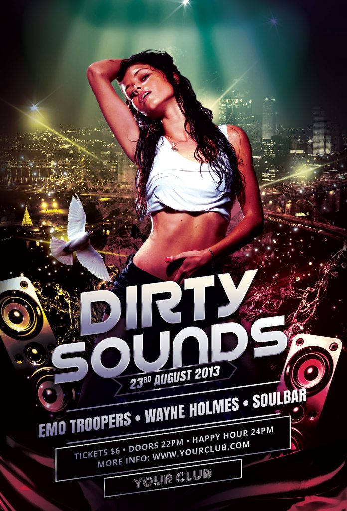 Dirty Sounds Flyer Template