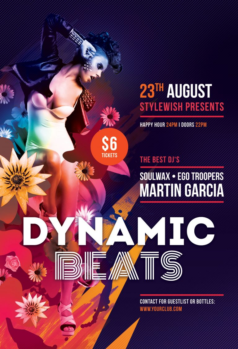 Dynamic Beats Flyer Template