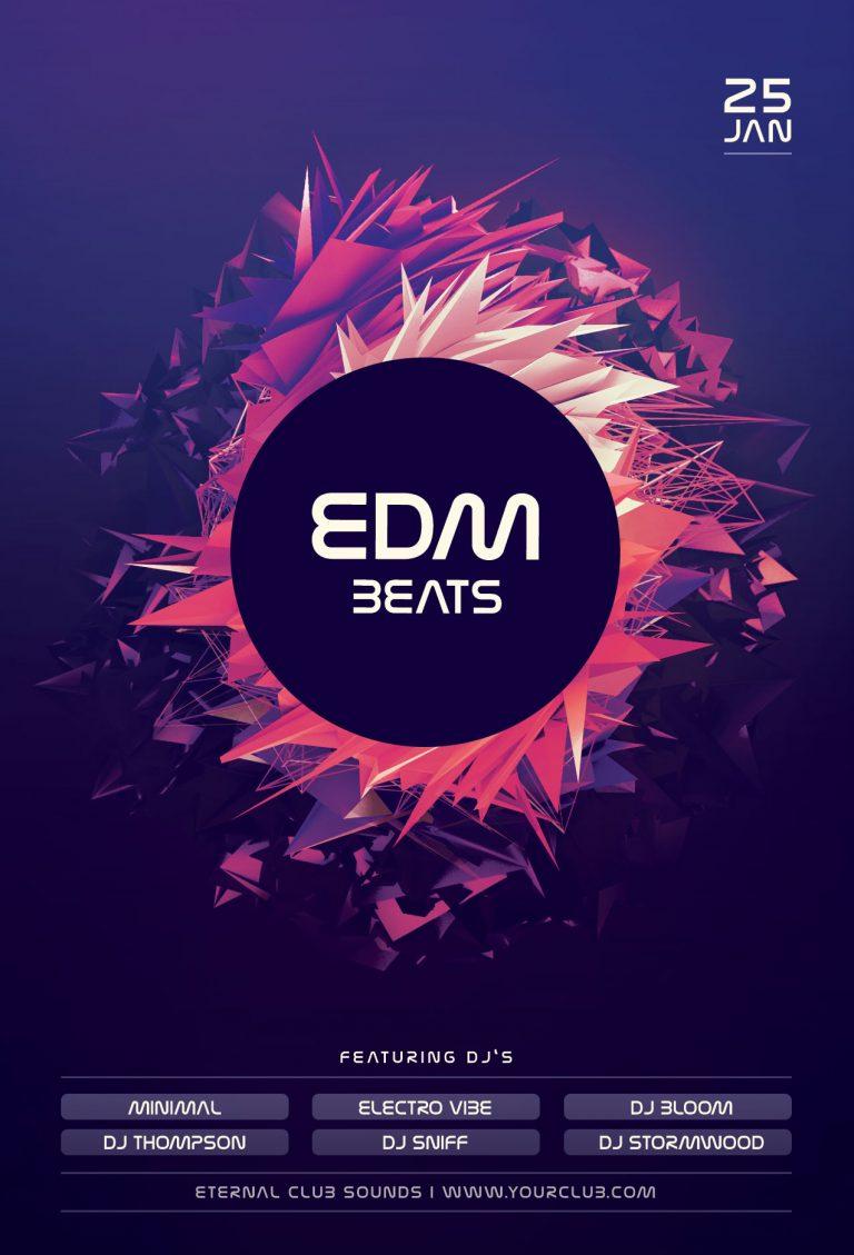 EMD Beats Flyer Template