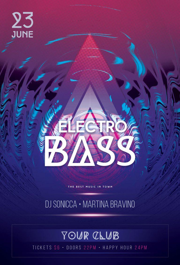 Electro Bass Flyer Template