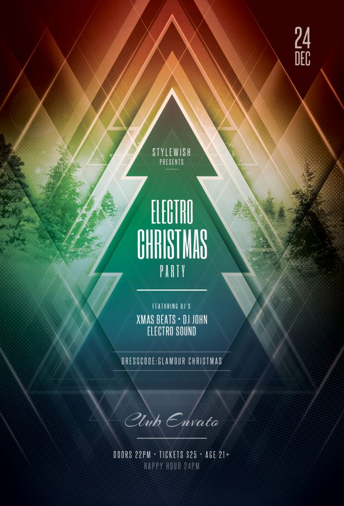 electro Christmas Flyer Template