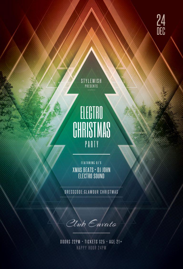 electro Christmas Flyer Template