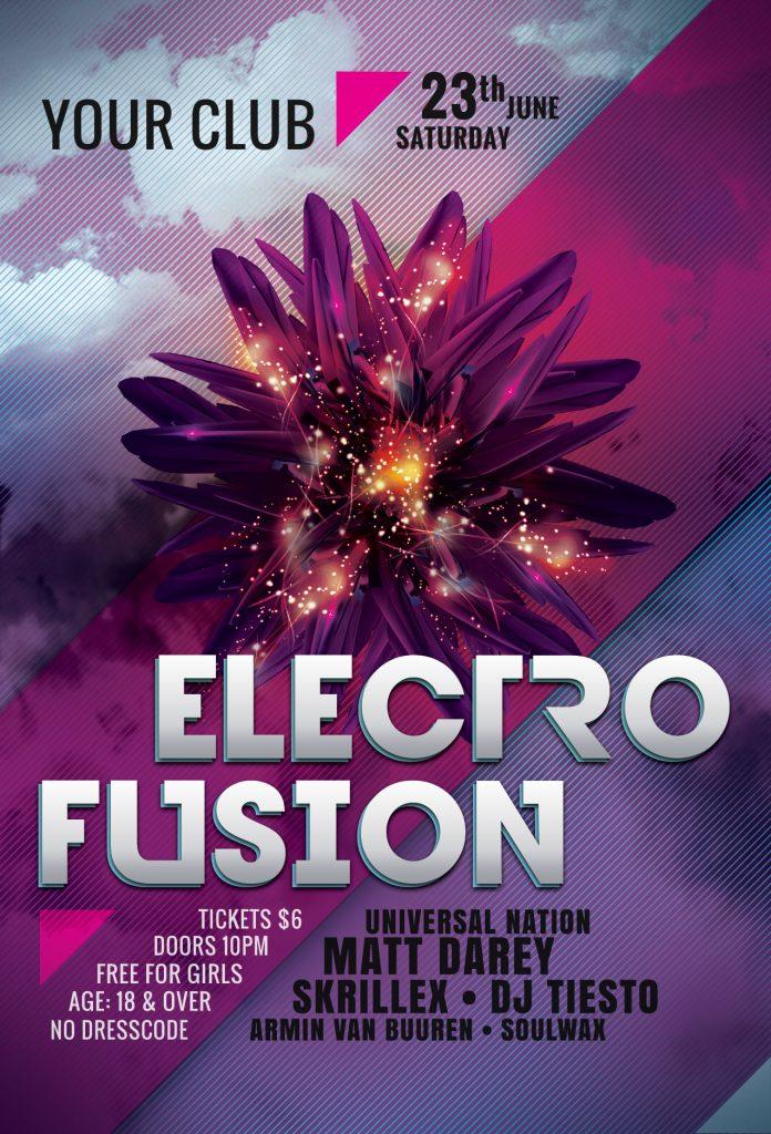 Electro Fusion Flyer Template