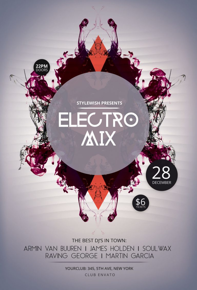 Electro Mix Flyer Template