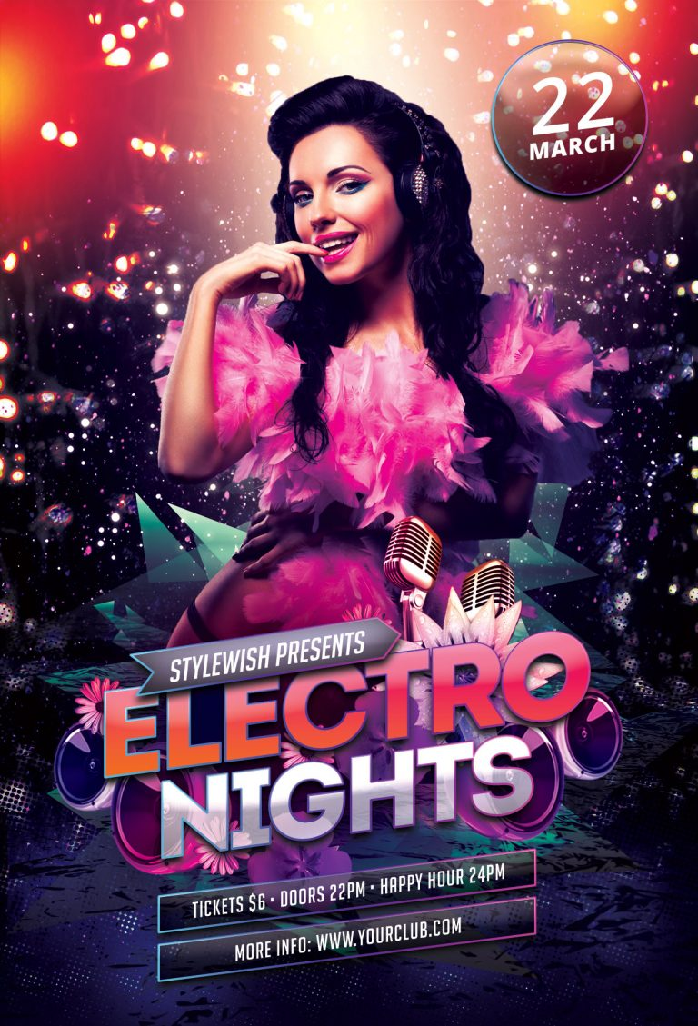 Electro Nights Flyer Template